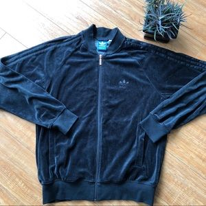 adidas Originals Black Velour Track Jacket